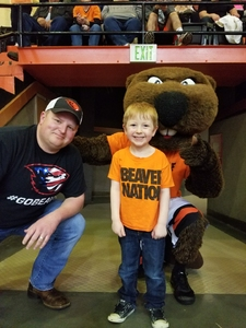 Chance attended Oregon State University Beavers vs. Washington - NCAA Men's Basketball on Feb 10th 2018 via VetTix