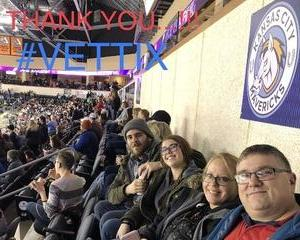Matthew attended Kansas City Mavericks vs. Allen Americans on Feb 23rd 2018 via VetTix