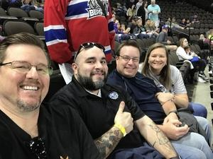 James attended Jacksonville Icemen vs. Brampton Beast - ECHL on Feb 25th 2018 via VetTix