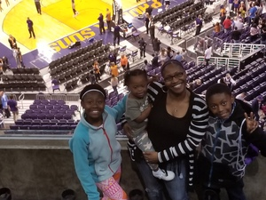 April attended Phoenix Suns vs. Denver Nuggets - NBA on Feb 10th 2018 via VetTix
