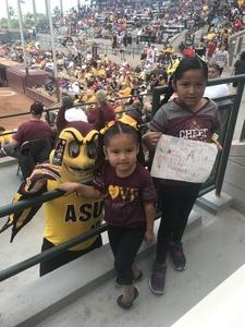 Frank attended Honor Row - Arizona State Lady Devils vs. Arizona - NCAA Women's Softball on Apr 22nd 2018 via VetTix