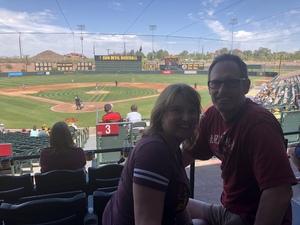 Lawrence attended Honor Row - Arizona State Sun Devils vs. Utah - NCAA Men's Baseball on Apr 22nd 2018 via VetTix