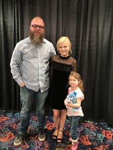 Clinton attended Darci Lynne and Friends Live - VIP Meet and Greet on Feb 11th 2018 via VetTix