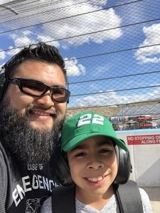 Daniel attended 2018 TicketGuardian 500 - Monster Energy NASCAR Cup Series on Mar 11th 2018 via VetTix