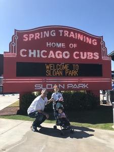 Chris attended Chicago Cubs vs. Chicago White Sox - MLB Spring Training on Feb 27th 2018 via VetTix