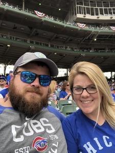 Jarrett attended Chicago Cubs vs. Pittsburgh Pirates - MLB on Apr 12th 2018 via VetTix