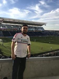 HECTOR attended Chicago Fire vs. Sporting Kansas City - MLS on Mar 10th 2018 via VetTix