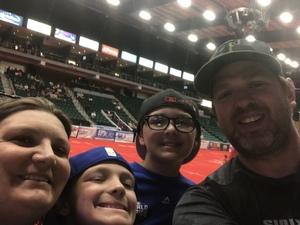 Kennedy Family attended Texas Revolution vs. Amarillo Venom - Cif on May 12th 2018 via VetTix