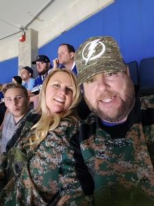 Daniell attended Tampa Bay Lightning vs. Florida Panthers - NHL on Mar 6th 2018 via VetTix