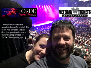 James attended Lorde: Melodrama World Tour on Mar 10th 2018 via VetTix