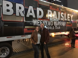 David attended Brad Paisley - Weekend Warrior World Tour With Dustin Lynch, Chase Bryant and Lindsay Ell on Apr 6th 2018 via VetTix