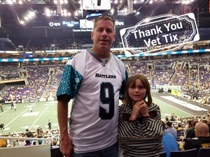 Mark attended Arizona Rattlers vs Nebraska Danger - IFL on Mar 24th 2018 via VetTix