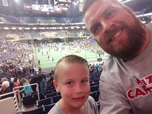 Joshua attended Arizona Rattlers vs Nebraska Danger - IFL on Mar 24th 2018 via VetTix