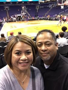 Jeffrey attended Phoenix Suns vs. Detroit Pistons - NBA on Mar 20th 2018 via VetTix