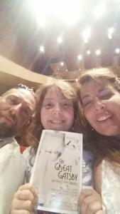 Wendi attended The Great Gatsby on Apr 6th 2018 via VetTix