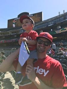 Justin attended Oakland Athletics vs. Los Angeles Angels - MLB on Mar 29th 2018 via VetTix
