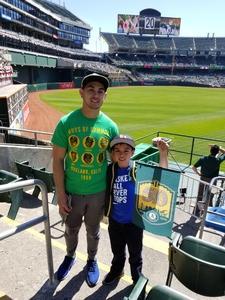 Jeffrey attended Oakland Athletics vs. Los Angeles Angels - MLB on Mar 29th 2018 via VetTix