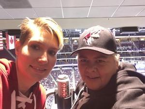 Lidia attended Arizona Coyotes vs. St. Louis Blues - NHL on Mar 31st 2018 via VetTix