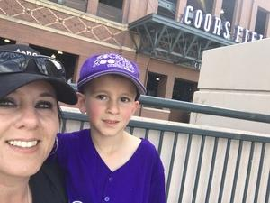 Michelle attended Colorado Rockies vs. San Diego Padres - MLB on Apr 11th 2018 via VetTix