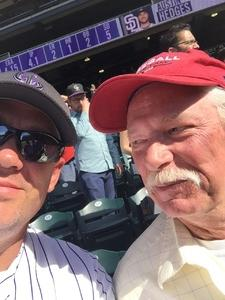 Christopher attended Colorado Rockies vs. San Diego Padres - MLB on Apr 11th 2018 via VetTix