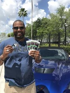 Christopher attended Barrett Jackson - the World's Greatest Collector Car Auction in Palm Beach, Fl - Tickets Are 2 for 1, So 1 Tickets Will Get 2 People in on Apr 14th 2018 via VetTix