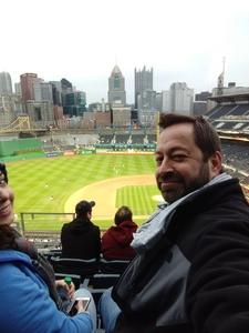 Jake attended Pittsburgh Pirates vs. Cincinnati Reds - MLB on Apr 6th 2018 via VetTix