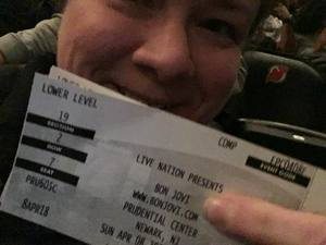 Christy attended Bon Jovi - This House is not for Sale Tour - Sunday Night on Apr 8th 2018 via VetTix