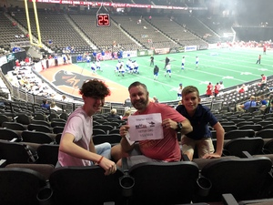 David attended Jacksonville Sharks vs. Columbus Lions - AFL on Jul 21st 2018 via VetTix