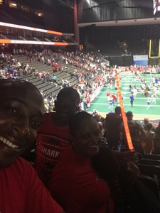 Shelley attended Jacksonville Sharks vs. Columbus Lions - AFL on Jul 21st 2018 via VetTix