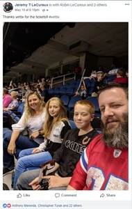Jeremy LeCureux attended Carolina Cobras vs. Mass Pirates - NAL on May 19th 2018 via VetTix