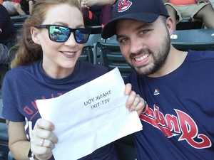 Kyle attended Cleveland Indians vs. Houston Astros - MLB on May 27th 2018 via VetTix
