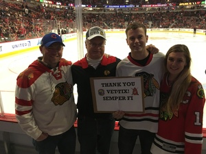 Click To Read More Feedback from Chicago Blackhawks Game