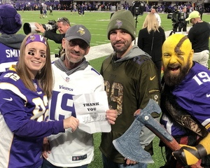 Click To Read More Feedback from Minnesota Vikings Game