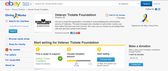 contribute to veteran tickets foundation tickets for troops vettix. Black Bedroom Furniture Sets. Home Design Ideas